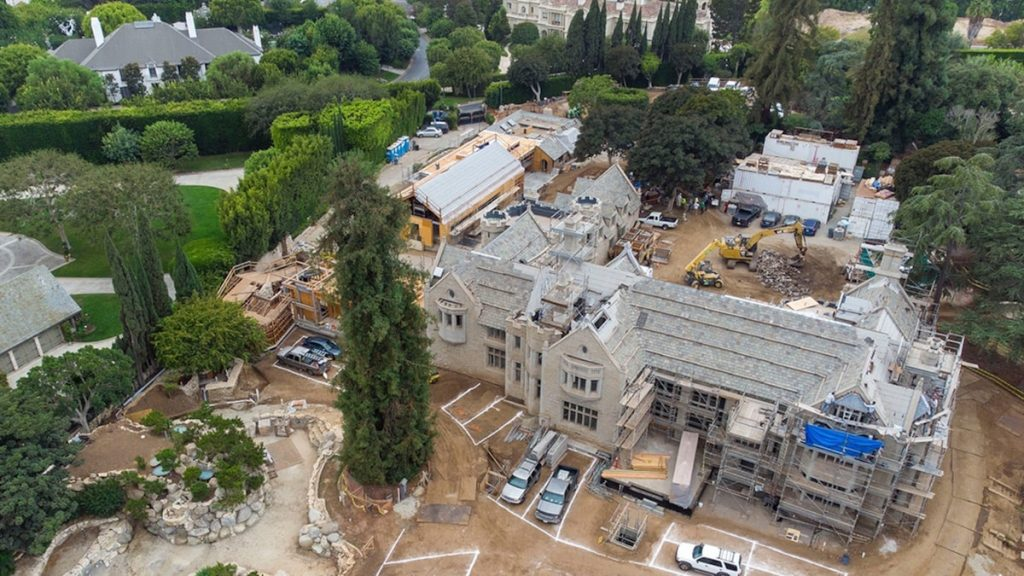 Playboy Mansion Renovations Continue After 2 Years of Construction