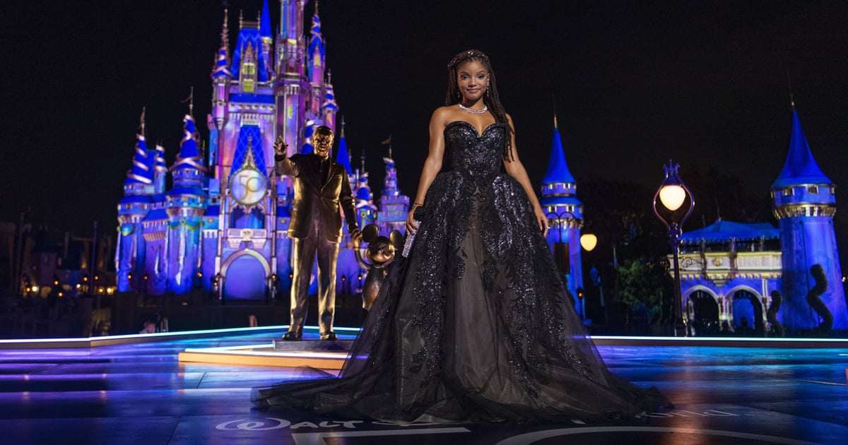 Halle Bailey Is the Halloween Princess of My Dreams in This Twinkly Black Ball Gown