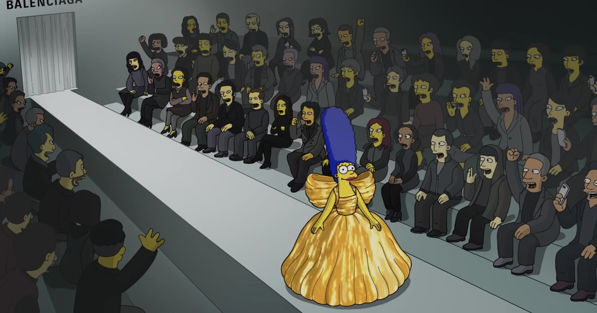 """The Simpsons Model """"Balenciaga-ga"""" in a Special Episode Made For the Brand's Latest Runway Show"""