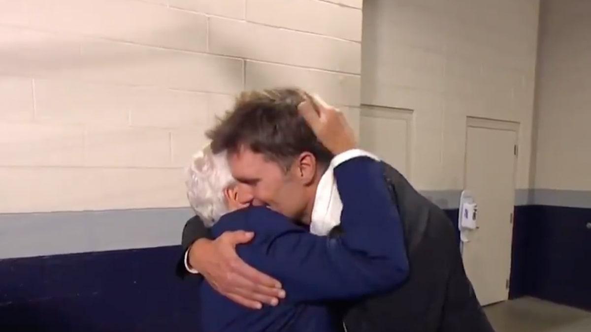 Tom Brady And Robert Kraft Embrace Before TB12 Return To New England