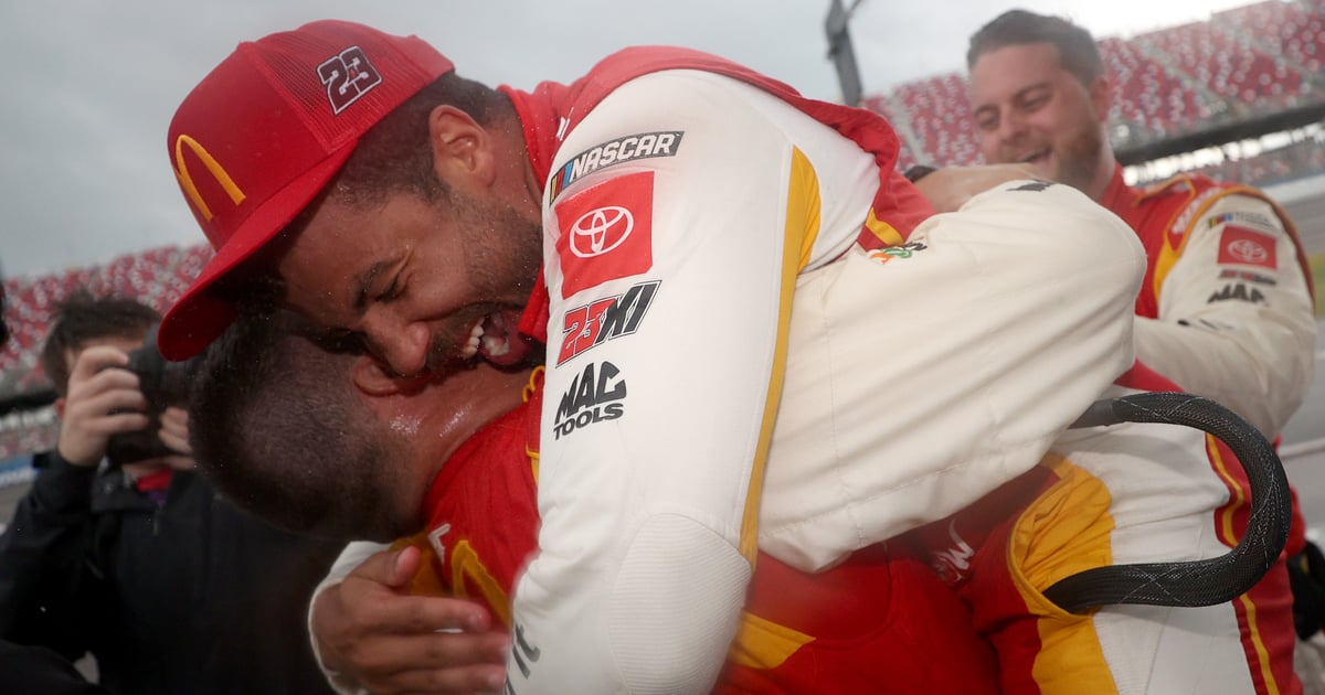 Watch the Moment Bubba Wallace Realized He Made History at Talladega Superspeedway
